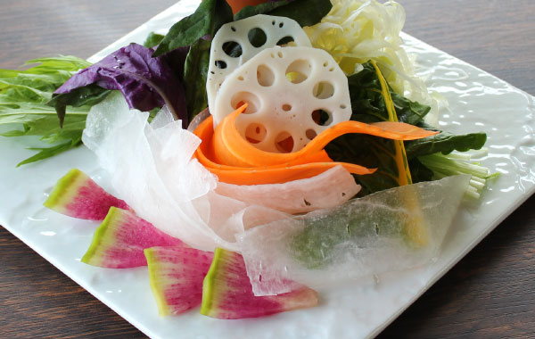 sliced Misakibeef おかわり野菜